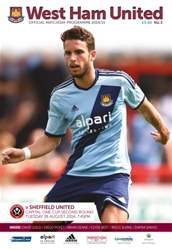 West Ham Utd Official Programmes issue V SHEFFIELD UNITED 2014/15