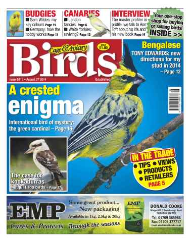 Cage & Aviary Birds issue No.5818 A Crested Enigma