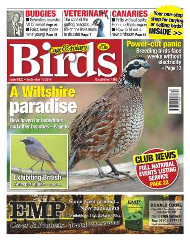 Cage & Aviary Birds issue No.5820 A Wiltshire Paradise