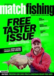 Match Fishing issue FREE Taster Issue