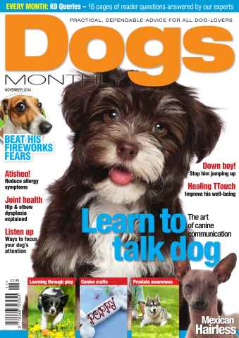 Dogs Monthly issue Dogs Monthly November 14
