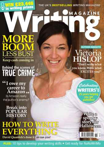 Writing Magazine issue November 2014