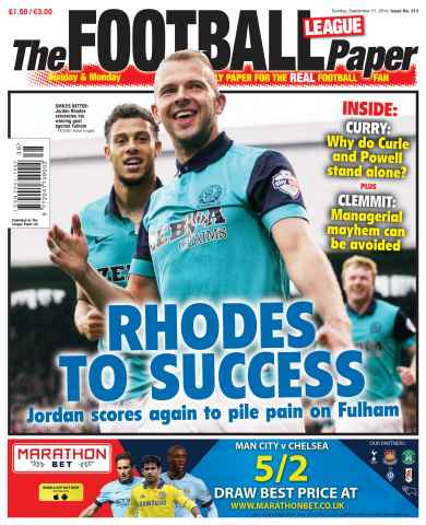 The Football League Paper issue 21st September 2014