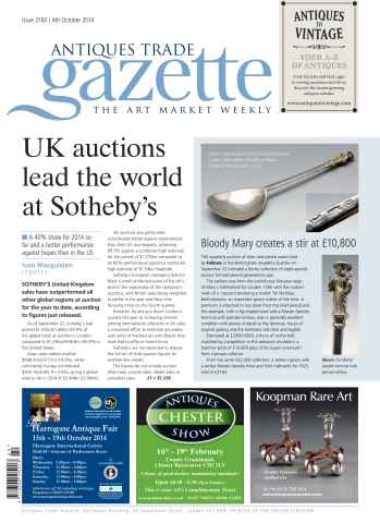 Antiques Trade Gazette issue ATG Issue 2160