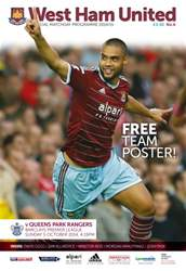 West Ham Utd Official Programmes issue V QUEENS PARK RANGERS 2014/15