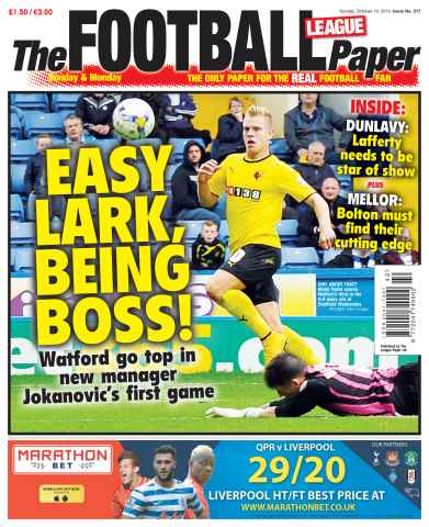 The Football League Paper issue 19th October 2014