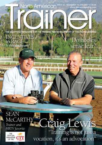North American Trainer Magazine - horse racing issue Issue 34 - November 2014-January 2015