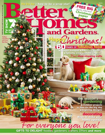 Better Homes and Gardens Australia Magazine Christmas 2014