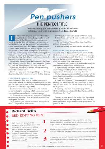 Writing Magazine Preview 21