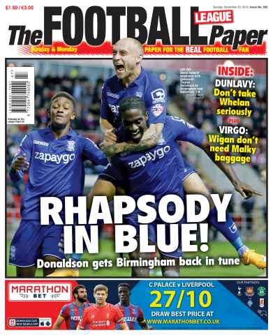 The Football League Paper issue 23rd November 2014