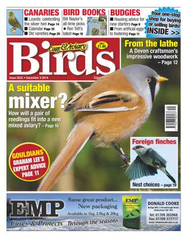 Cage & Aviary Birds issue No.5832 A Suitable Mixer