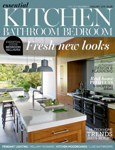 Essential kitchen bathroom bedroom magazine january 2015 subscriptions pocketmags for Essential kitchens and bathrooms