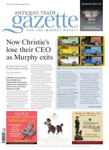 Antiques Trade Gazette issue ATG Issue 2170