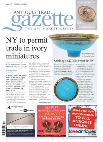 Antiques Trade Gazette issue ATG Issue 2171