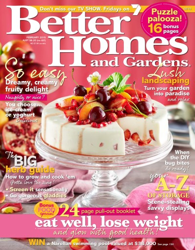 Better Homes and Gardens Australia Magazine February 2015