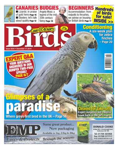Cage & Aviary Birds issue No.5834 Glimpses of a Paradise