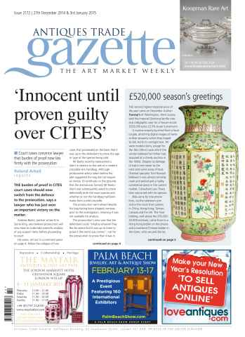 Antiques Trade Gazette issue ATG Issue 2172 (DI)