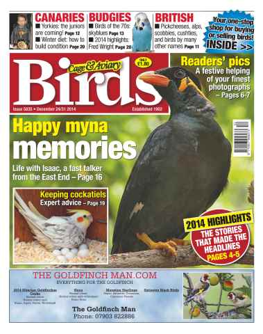 Cage & Aviary Birds issue No.5835 Happy myna memories