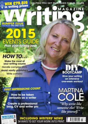 Writing Magazine issue February 2015