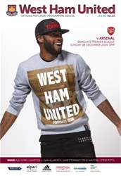 West Ham Utd Official Programmes issue ARSENAL BPL