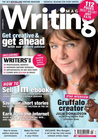 Writing Magazine issue September 2011