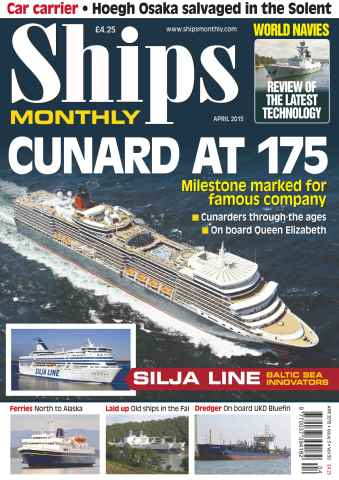 Ships Monthly issue No.604 Cunard at 175