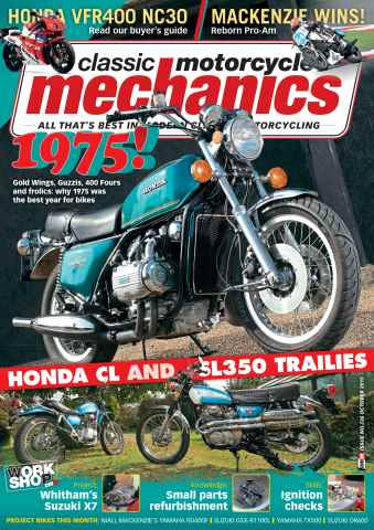 Classic Motorcycle Mechanics issue October 2015