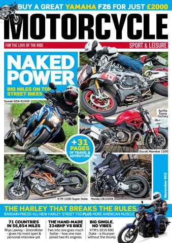 Motorcycle Sport & Leisure issue November 2015
