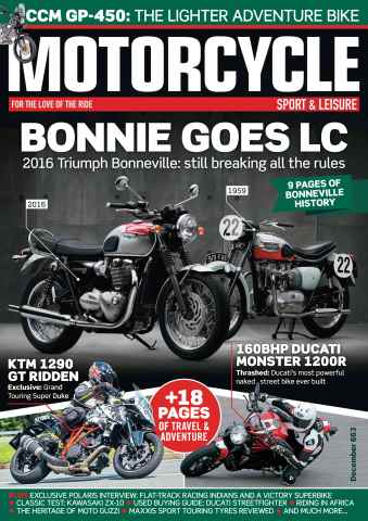 Motorcycle Sport & Leisure issue December 2015