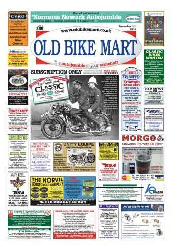 Old Bike Mart issue November 2015