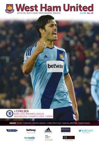 West Ham Utd Official Programmes issue CHELSEA BPL