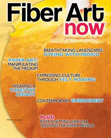 Fiber Art Now issue Spring 2015