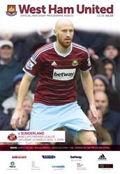West Ham Utd Official Programmes issue SUNDERLAND BPL