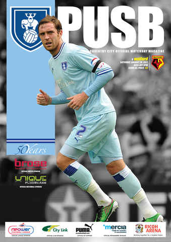 CCFC Official Programmes issue 03 V WATFORD (11-12)