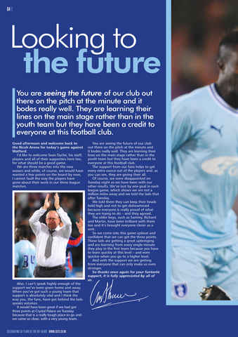CCFC Official Programmes Preview 4