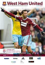 West Ham Utd Official Programmes issue STOKE CITY BPL