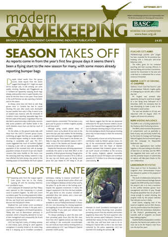 Modern Gamekeeping issue SEPTEMBER 2011